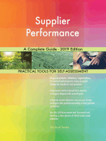 Supplier Performance A Complete Guide - 2019 Edition