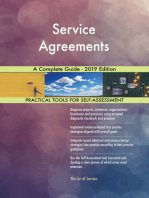 Service Agreements A Complete Guide - 2019 Edition