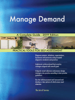 Manage Demand A Complete Guide - 2019 Edition