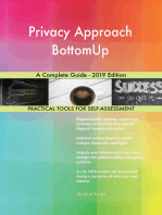 Privacy Approach BottomUp A Complete Guide - 2019 Edition