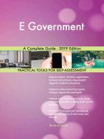E Government A Complete Guide - 2019 Edition