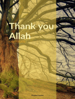 Thank you Allah