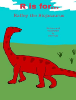 R is for... Raffey the Riojasaurus