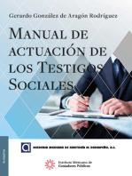 Manual de actuación de los testigos sociales