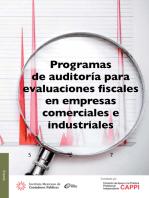 Programas de auditoría para evaluaciones fiscales en empresas comerciales e industriales