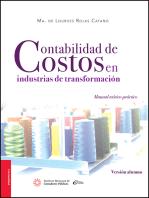 Contabilidad de costos en industrias de transformación.: Versión Alumno