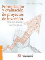 Formulación y evaluación de proyectos de inversión.: Una propuesta metodológica