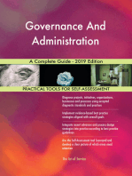 Governance And Administration A Complete Guide - 2019 Edition