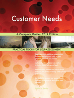 Customer Needs A Complete Guide - 2019 Edition