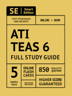 ATI TEAS 6 Full Study Guide 1st Edition: Complete Subject Review with 5 Full Practice Tests Online + Book, 850 realistic questions, PLUS 400 Online Flashcards