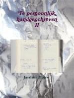 Te persoonlijk, handgeschreven II