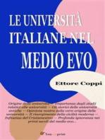Le Università italiane nel Medio Evo