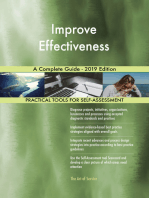 Improve Effectiveness A Complete Guide - 2019 Edition