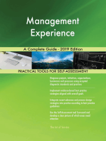 Management Experience A Complete Guide - 2019 Edition