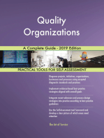 Quality Organizations A Complete Guide - 2019 Edition
