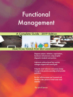 Functional Management A Complete Guide - 2019 Edition