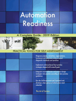 Automation Readiness A Complete Guide - 2019 Edition
