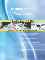 Management Executives A Complete Guide - 2019 Edition