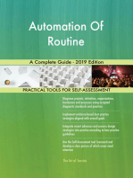 Automation Of Routine A Complete Guide - 2019 Edition