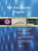 Risk And Security Program A Complete Guide - 2019 Edition