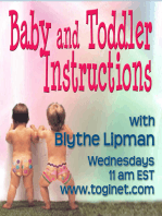 """01-27-2016 Baby and Toddler Instructions Welcomes Special Guest, Claude Knobler from """"More Love, Less Panic!"""""""