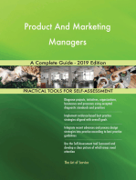 Product And Marketing Managers A Complete Guide - 2019 Edition