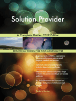 Solution Provider A Complete Guide - 2019 Edition
