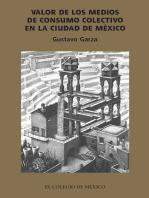 Valor de los medios de producción socializados en la ciudad de México