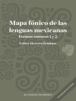 Mapa fónico de las lenguas mexicanas: Formas sonoras 1 y 2