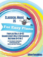 Classical Magic 35 - For Easy Piano Fireflies Waltz Op 82 Grandfather's Waltz Nutcracker Nocturne Op 9 No 2 Letter Names Embedded In Noteheads for Quick and Easy Reading