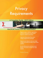 Privacy Requirements A Complete Guide - 2019 Edition