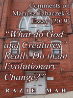 """Comments on Mariusz Tabaczek's Essay (2019) """"What do God and Creatures Really Do in an Evolutionary Change?"""""""