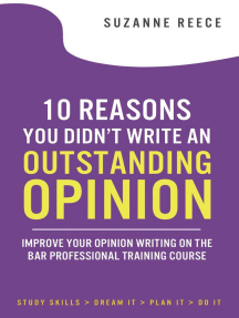 10 Reasons You Didn't Write an Outstanding Opinion