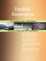 Establish Governance A Complete Guide - 2019 Edition