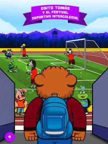 Osito Tomás y el festival deportivo intercolegial