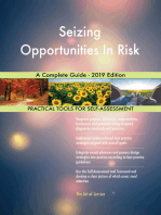 Seizing Opportunities In Risk A Complete Guide - 2019 Edition