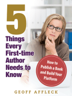 5 Things Every First-Time Author Needs to Know