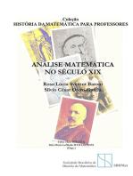 Análise Matemática No Século Xix