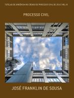 Tutelas De UrgÊncia No CÓdigo De Processo Civil De 2015 Vol Iii