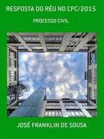 Resposta Do RÉu No Cpc/2015
