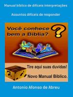 Manual Bíblico De Difíceis Interpretações