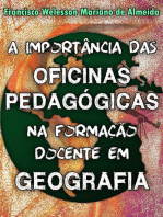 A Importância Das Oficinas Pedagógicas Na Formação Docente Em Geografia