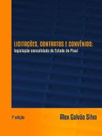 LicitaÇÕes, Contratos E ConvÊnios: Legislação Consolidada Do Estado Do Piauí