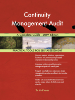 Continuity Management Audit A Complete Guide - 2019 Edition