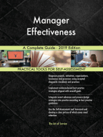 Manager Effectiveness A Complete Guide - 2019 Edition