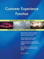 Customer Experience Function A Complete Guide - 2019 Edition