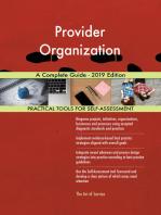 Provider Organization A Complete Guide - 2019 Edition