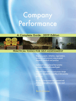 Company Performance A Complete Guide - 2019 Edition
