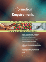 Information Requirements A Complete Guide - 2019 Edition