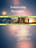 Stakeholder Perception A Complete Guide - 2019 Edition